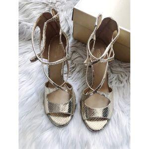 Michael Kors Chantelle Gold Sandals Size 7.5